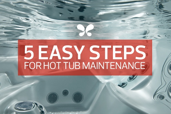 underwater hot tub image showing the best water care maintenance system