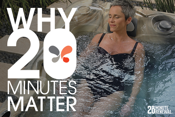 logo image with lady relaxing in a caldera hot tub