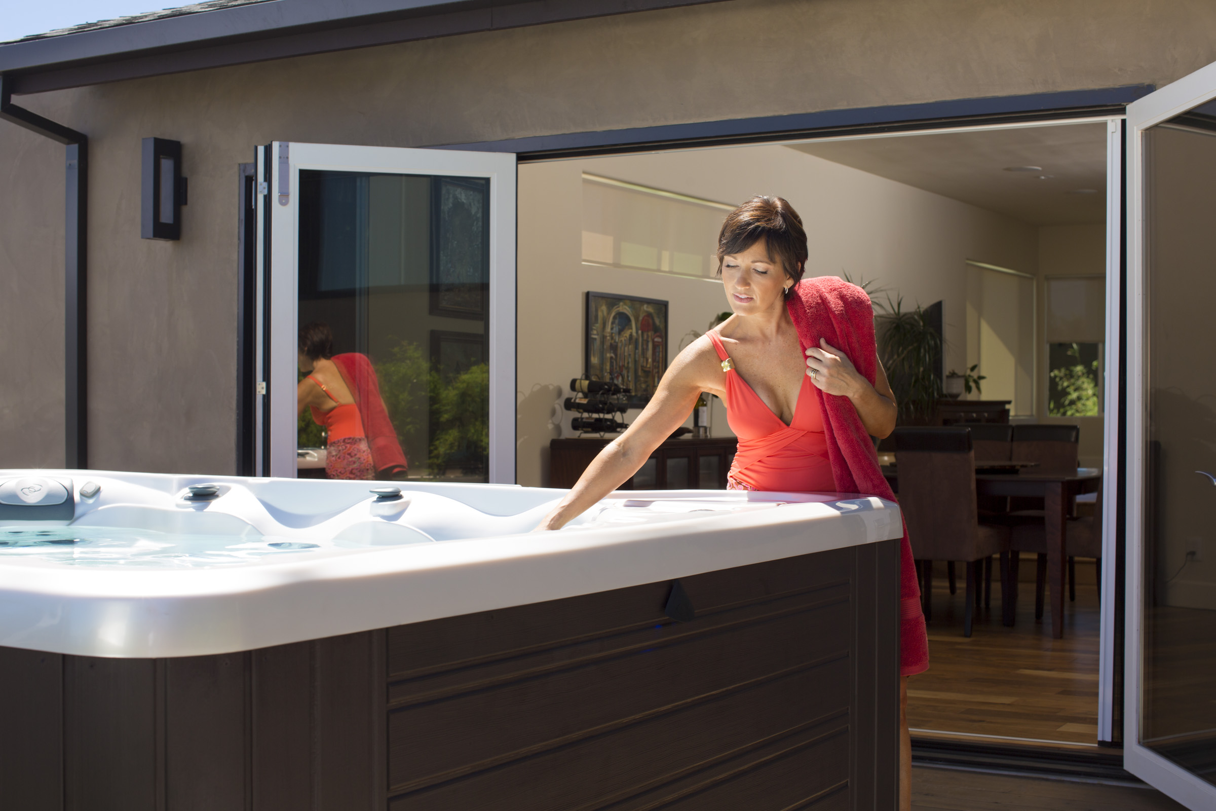 recycle your hot tub grey water to save money and water resources