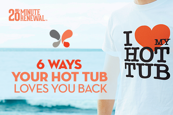 image of someone in a t-shirt that reads i love my hot tub with the blog article title