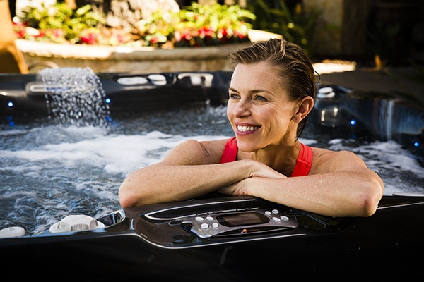 Main image of a woman in a hot tub Black Cherry Juice A Tasty Way To Treat Joint Pain