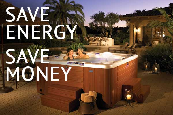 a couple enjoys the highest quality most energy efficient hot tub in the industry
