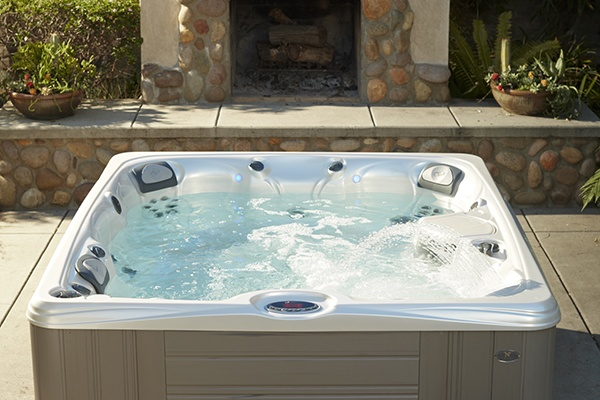 a caldera hot tub with low maintenance easy care hot tub filters