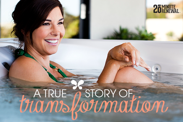 a beautiful lady lounges in a hot tub in the background with the blog article title in the foreground