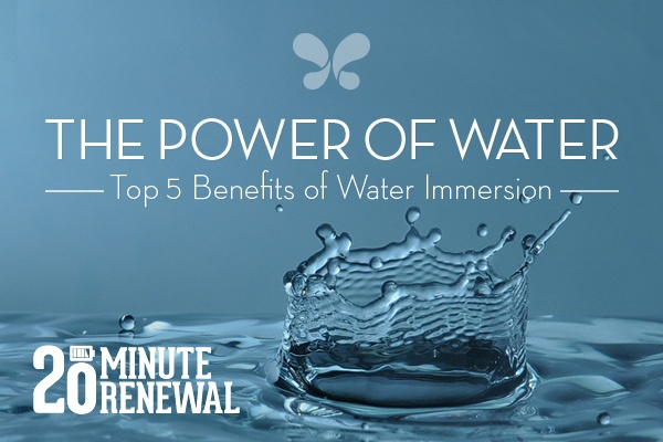 a drop of water represents the benefits of warm water immersion